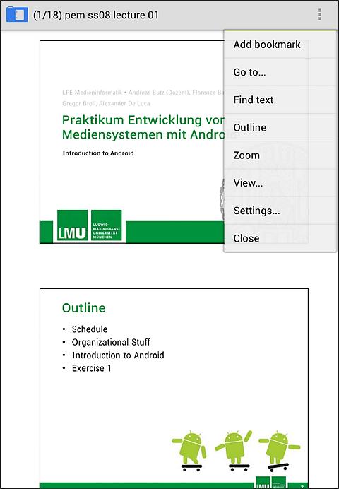 PDF читалка для Андроид - AnDoc