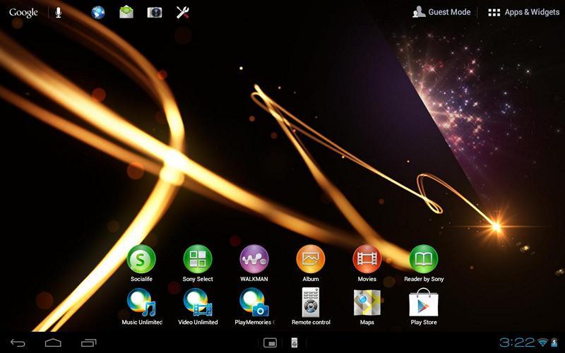 оболочка Sony Tablet
