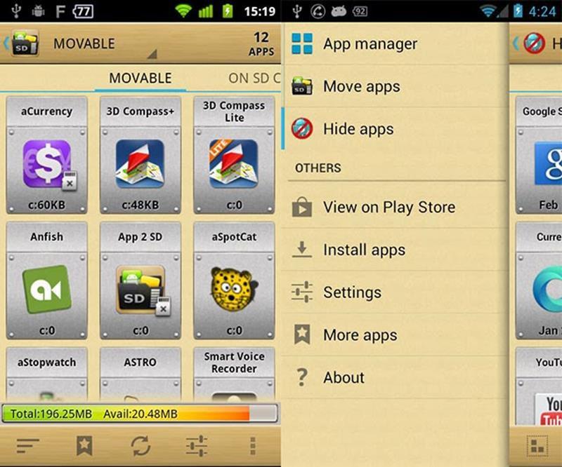 приложение AppMgr Pro III
