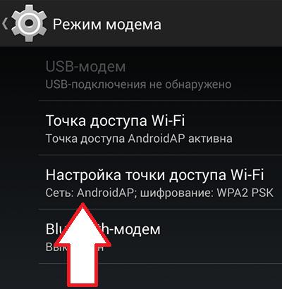 раздел Настройка точки доступа Wi-Fi