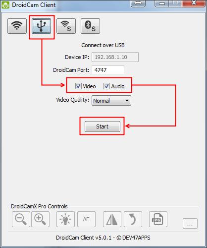 запускаем программу клиент на компьютере