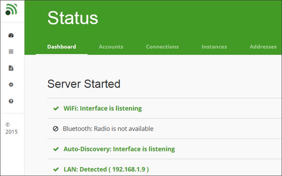 веб-интерфейс Unified Remote на компьютере