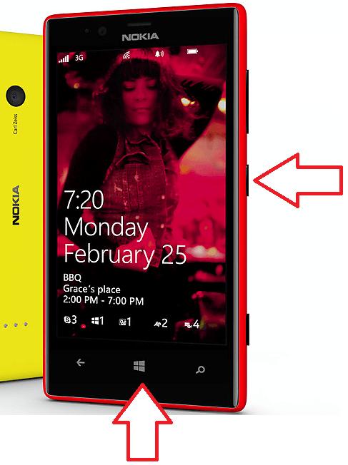 создание скриншота на Windows Phone 8.0
