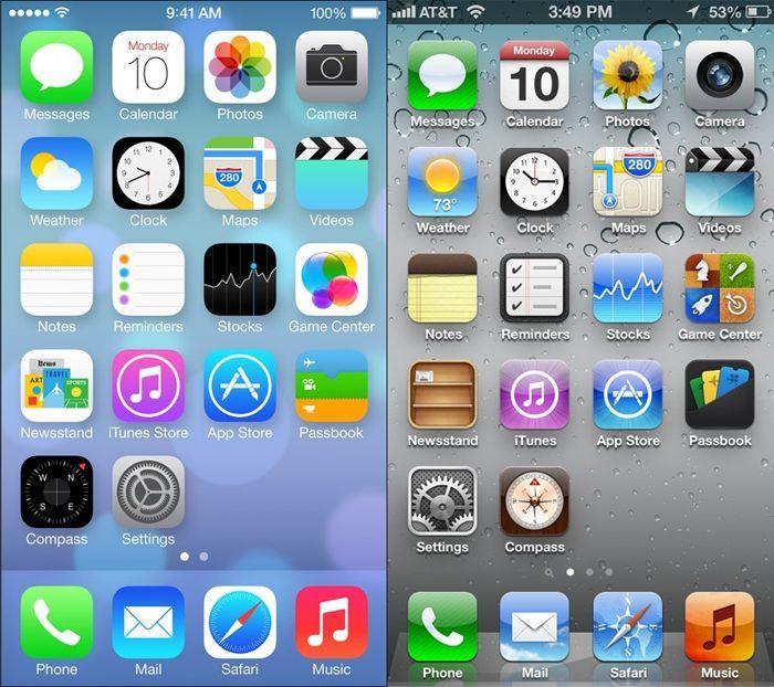 iOS 7 и iOS 6