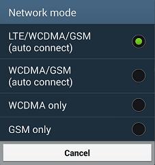 включение 4G на смартфоне от Samsung