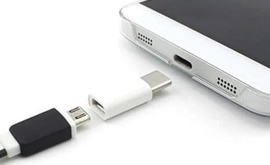 Переходник с USB Type C на обычный Micro USB