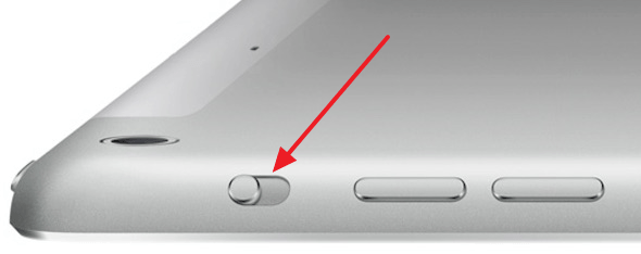 переключатель на корпусе iPad