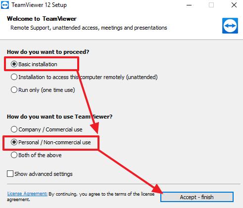 установка TeamViewer на компьютер