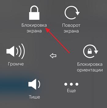 кнопка Блокировка экрана