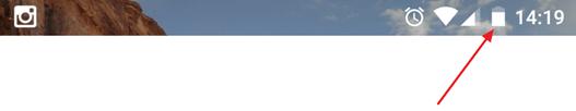 иконка батареи в статусной строке