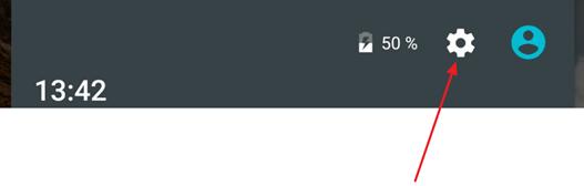 кнопка для открытия настроек Android