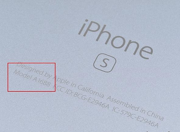 номер модели на корпусе iPhone