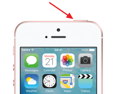 выключение iPhone