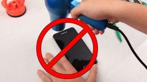 не сушите телефон феном
