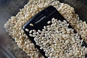 положите устройство в рис