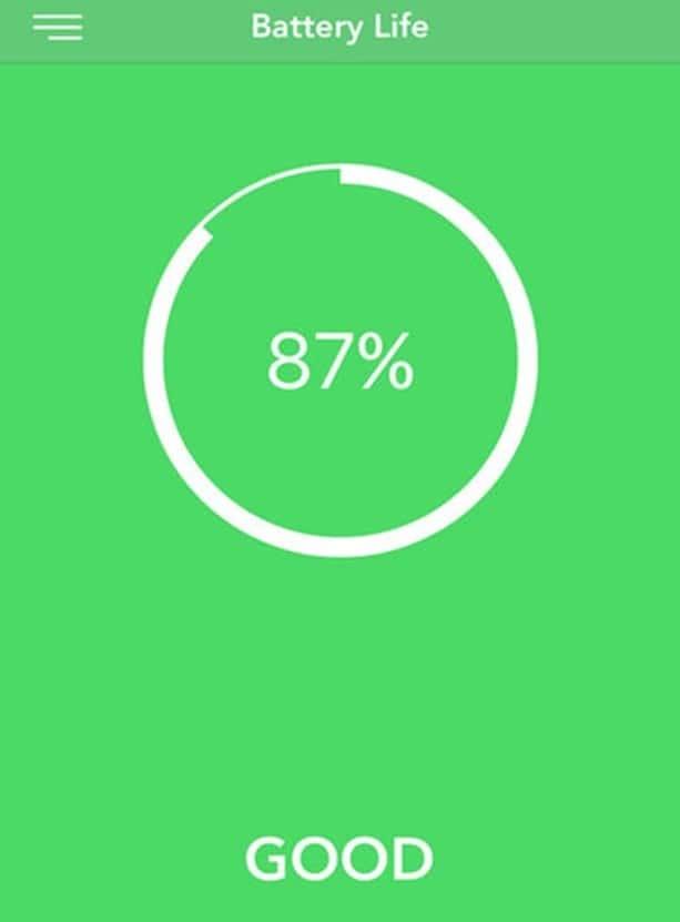 состояние батареи iPhone