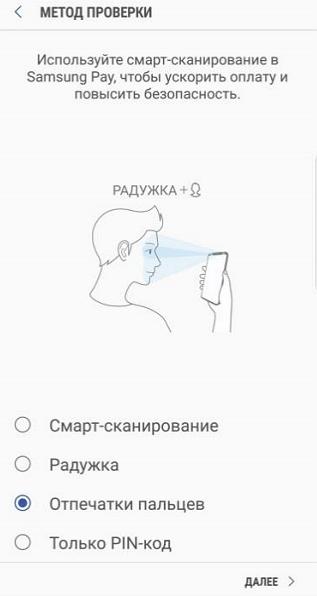 выбор способа разблокировки телефона