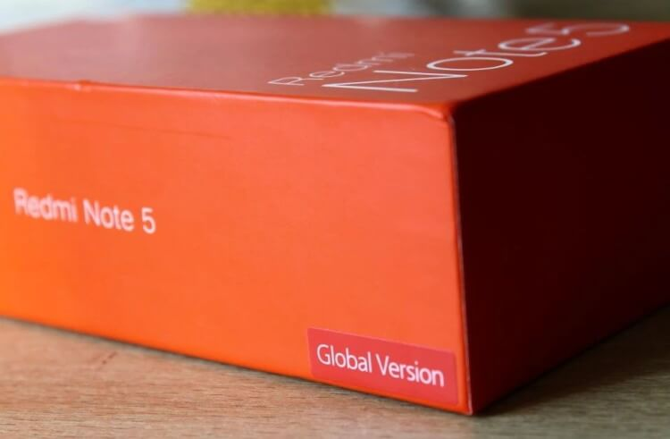 наклейка на глобальной версии Xiaomi