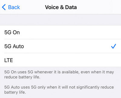 включить 5G на iPhone