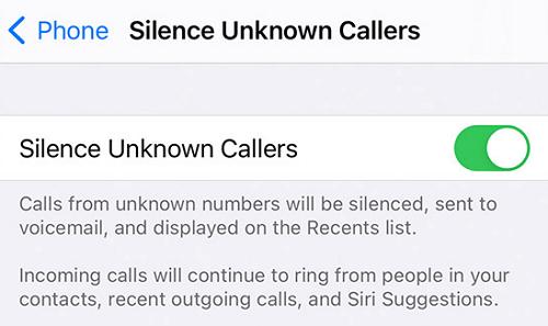 Телефон – Отключить звук от неизвестных абонентов